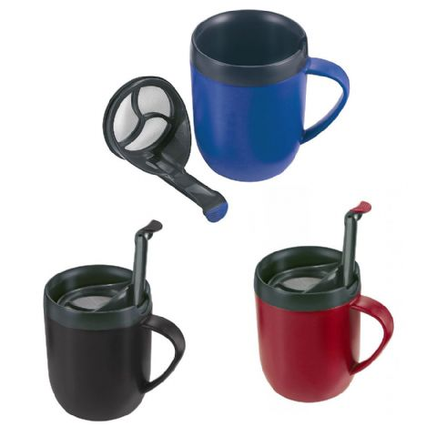 Zyliss Smart Cafe Travel Coffee Cafetiere Plunger Mug